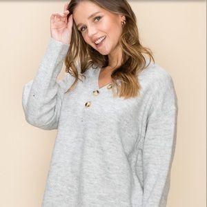 Sweaters - New! Brianna sweater with Henley buttons